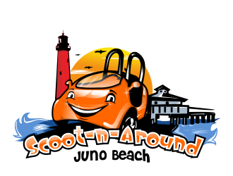 Scoot-n-Around Juno Beach logo design