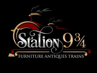 Station 9 3/4 logo design