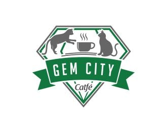 Gem City Catfé logo design