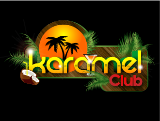 Karamel Club logo design