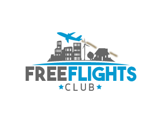 Free Flights Club logo design