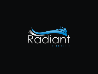Radiant Pools logo design