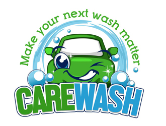 CAREWASH logo design