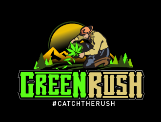 GreenRush logo design