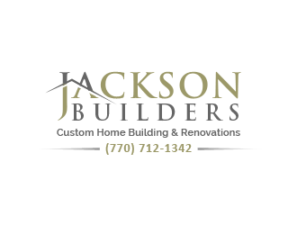 JACKSON BUILDERS  Custom Home Building and Remodeling  (770) 712-1342 logo design