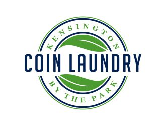 Kensington COIN LAUNDRY By the park logo design