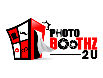 Photo Boothz 2 U logo design