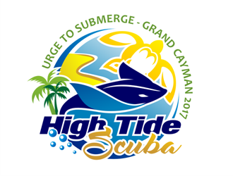 High Tide Scuba logo design