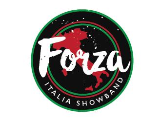 FORZA ITALIA SHOWBAND logo design