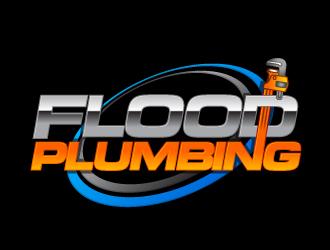 FLOOD PLUMBING logo design