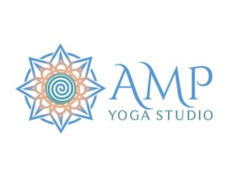 AMP Yoga Studio logo design