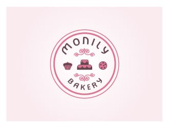 Monily bakery logo design