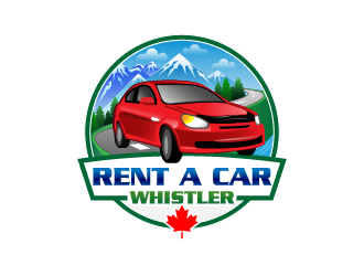 Rent A Car Whistler logo design