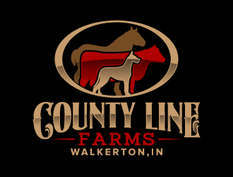 County Line Farms logo design
