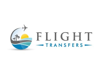 Flight Transfers logo design