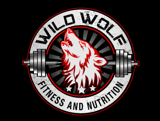 Wild Wolf Fitness and Nutrition logo design