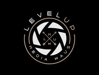 Level Up Media Haus logo design