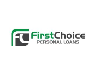 First Choice Personal Loans logo design - 48HoursLogo.com