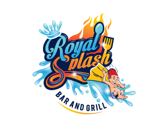 Royal Splash Bar and Grill logo design