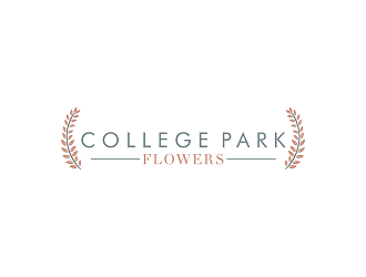 College Park Flowers logo design