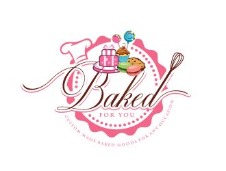 Baked For You logo design