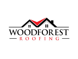 Woodforest Roofing logo design