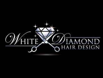 White Diamond Hair Design logo design