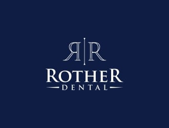 ROTHER DENTAL logo design