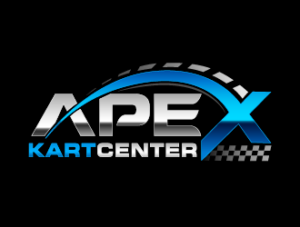 Apex Kart Center logo design