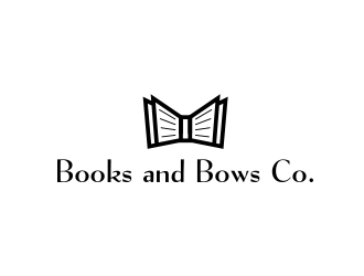 Books and Bows Co logo design