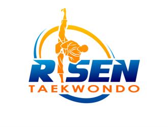 Risen Taekwondo logo design
