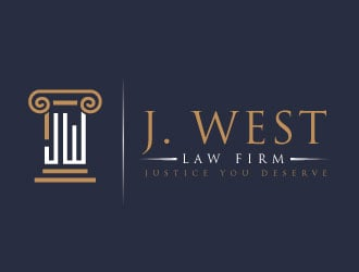 J. West Law Firm logo design