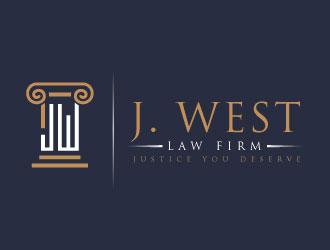 j west law firm logo design 48hourslogo com