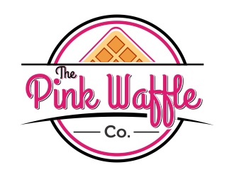 The Pink Waffle Co. logo design