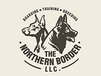 The Northern Border, LLC. (Boarding, training, breeding). logo design