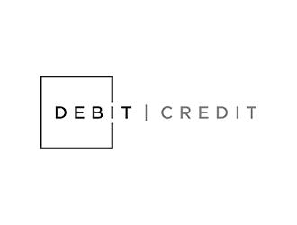 debit | credit logo design