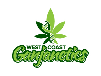 West Coast Ganjanetics logo design