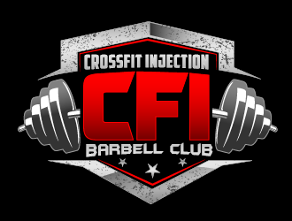 CrossFit Injection Barbell Club or CFI Barbell Club logo design