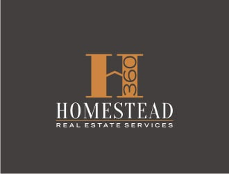 Homestead435 Real Estate Services logo design