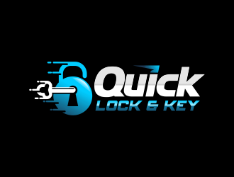 Quick Lock & Key logo design