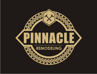 Pinnacle Remodeling logo design