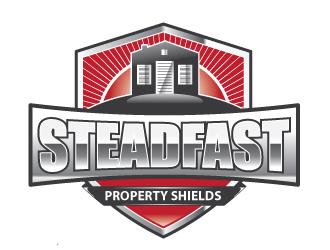 Steadfast Property Shields logo design