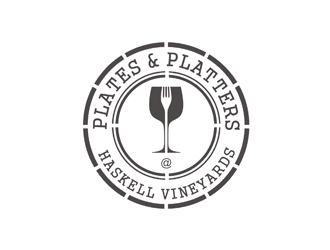 Plates and Platters @ Haskell Vineyards logo design