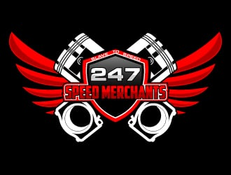 247 SPEED MERCHANTS logo design
