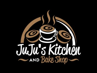 Juju's Kitchen and Bake Shop logo design