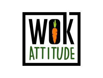 WOK ATTITUDE logo design