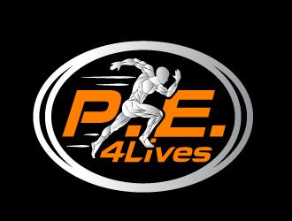 P.E. 4 Lives logo design