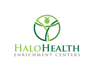 Halo Health Enrichment Centers logo design