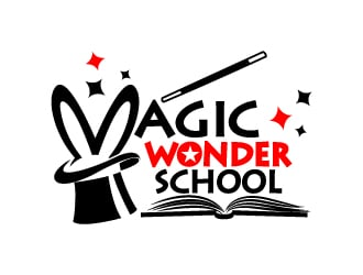 Magic Wonder School logo design