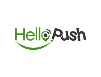 HelloPush logo design